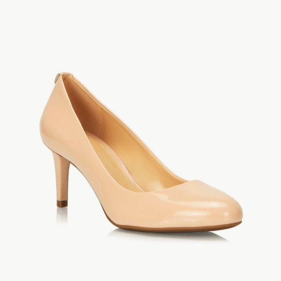 SOLD Michael Kors Jenna nude pump patent leather 8
